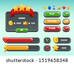 games gui set. mobile gaming...