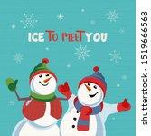 fancy seasonal poster. cartoon... | Shutterstock .eps vector #1519666568