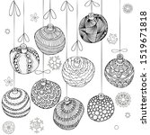 winter pattern with christmas... | Shutterstock .eps vector #1519671818