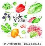 watercolor hand drawn... | Shutterstock . vector #1519685168