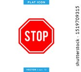 stop sign vector design template