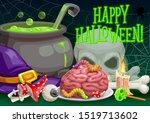 halloween horror night vector... | Shutterstock .eps vector #1519713602