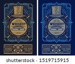 old  label design for whiskey...   Shutterstock .eps vector #1519715915