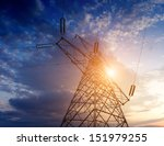high voltage post.high voltage... | Shutterstock . vector #151979255