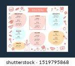 kids menu doodle illustration.... | Shutterstock .eps vector #1519795868