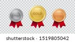 realistic 3d champion gold... | Shutterstock .eps vector #1519805042