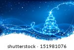 christmas background | Shutterstock .eps vector #151981076