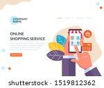online internet shopping web...   Shutterstock .eps vector #1519812362