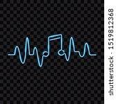 neon music heartbeat  blue ... | Shutterstock .eps vector #1519812368