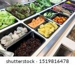 fresh salad bar with various... | Shutterstock . vector #1519816478