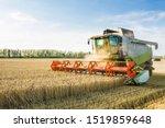 Combine Harvester Harvesting...