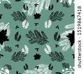 pretty greenery seamless...   Shutterstock .eps vector #1519867418