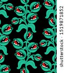 Flytrap Monster Plant Pattern...