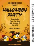halloween pattern. billiard... | Shutterstock .eps vector #1519894448