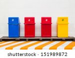 Four Trash Cans For Collecting...