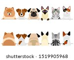 small dogs and cats border set  ... | Shutterstock .eps vector #1519905968