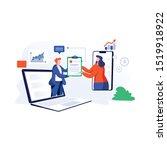 online agreement flat design... | Shutterstock .eps vector #1519918922
