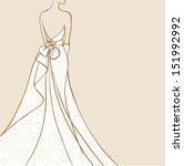 bride in beautiful wedding...   Shutterstock .eps vector #151992992