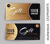vector set of luxury gift... | Shutterstock .eps vector #1519934975