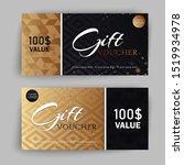 vector set of luxury gift... | Shutterstock .eps vector #1519934978