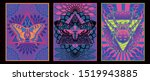 psychedelic art posters 1960s ... | Shutterstock .eps vector #1519943885