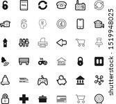 button vector icon set such as  ... | Shutterstock .eps vector #1519948025