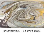 gray marble pattern with golden ... | Shutterstock . vector #1519951508