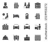 hotel vector icons set  modern... | Shutterstock .eps vector #1519953272