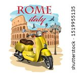 rome typography for t shirt... | Shutterstock .eps vector #1519955135
