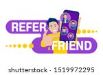 refer a friend   referral... | Shutterstock .eps vector #1519972295