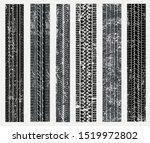 tire tracks silhouette.grunge... | Shutterstock .eps vector #1519972802