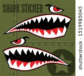 Flying Tiger Shark Sticker...