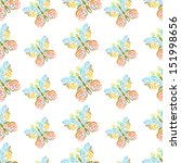 seamless pattern with flying... | Shutterstock .eps vector #151998656