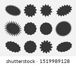 starburst speech bubbles ... | Shutterstock . vector #1519989128