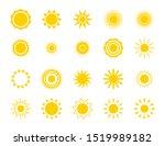 sun silhouette icon set. summer ... | Shutterstock . vector #1519989182