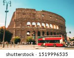 Rome  Italy. Colosseum. Red Hop ...