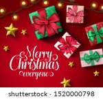 merry christmas greeting card... | Shutterstock .eps vector #1520000798