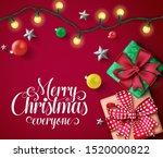 christmas vector banner... | Shutterstock .eps vector #1520000822