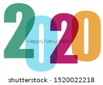 happy new year greeting with... | Shutterstock .eps vector #1520022218