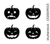 bundle pumpkins. halloween...   Shutterstock .eps vector #1520039015