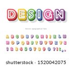 modern 3d bright font. cartoon... | Shutterstock .eps vector #1520042075