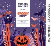 halloween theme modern and... | Shutterstock .eps vector #1520050292