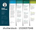 minimalist resume cv template... | Shutterstock .eps vector #1520057048