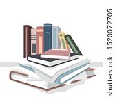 pile of books and papers | Shutterstock .eps vector #1520072705