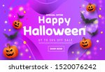 modern happy halloween sale... | Shutterstock .eps vector #1520076242