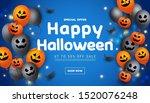 halloween sale banner with... | Shutterstock .eps vector #1520076248