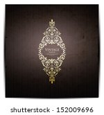invitation vintage card | Shutterstock .eps vector #152009696