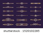 art deco set. vintage 1920s... | Shutterstock . vector #1520102285