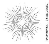 sunburst. sunshine rays in... | Shutterstock .eps vector #1520123582