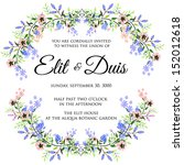 wedding invitation or card with ... | Shutterstock .eps vector #152012618